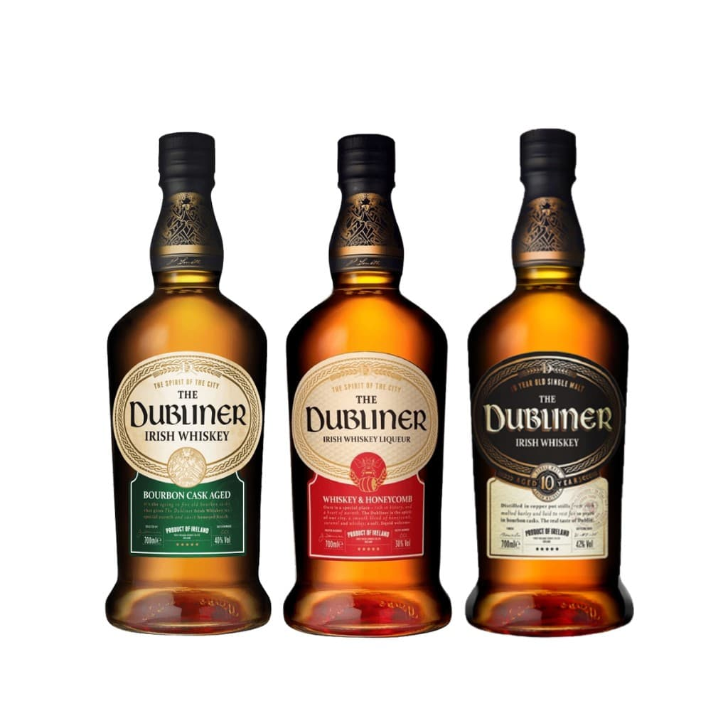 Dubliner Irish Bundle (Bourbon, Honeycomb, 10  Year Old) 700ml