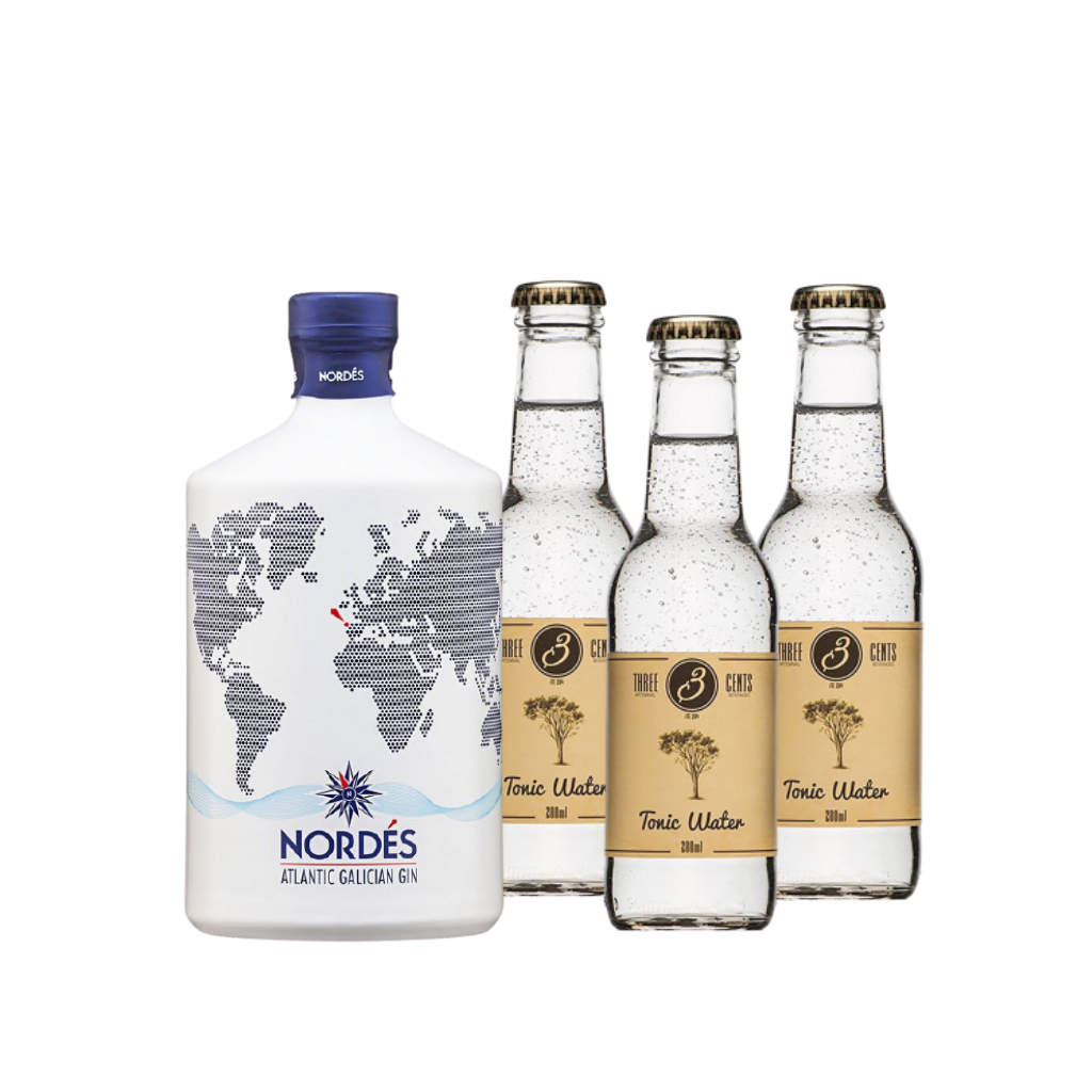 Nordes Galician Gin + 3bots Three cents tonic