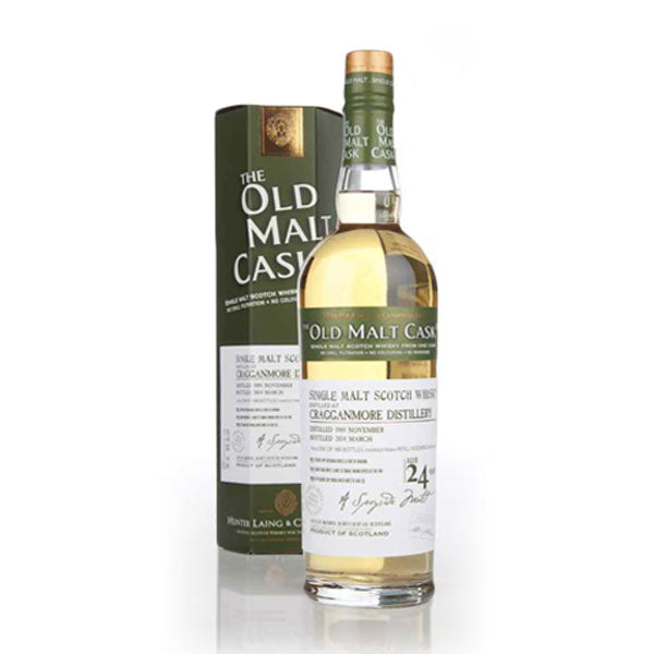 Hunter Laing Old Malt Cask Cragganmore Distillery 24 Year Old
