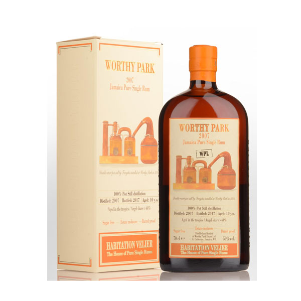 Habitation Velier - Worthy Park 10 Year Old 2007 Jamaican Pure Single Rum 70cl
