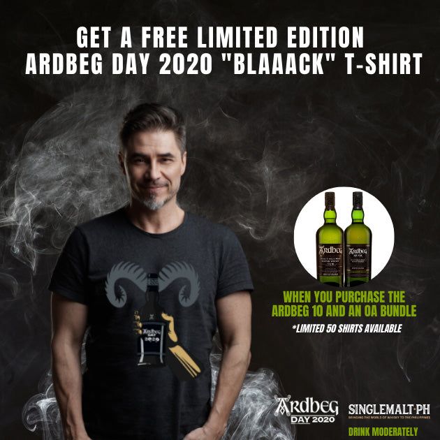 Ardbeg 10 Year Old 700ml + Ardbeg An Oa 700ml Plus Get a Free Limited Edition Ardbeg Day 2020 T-shirt