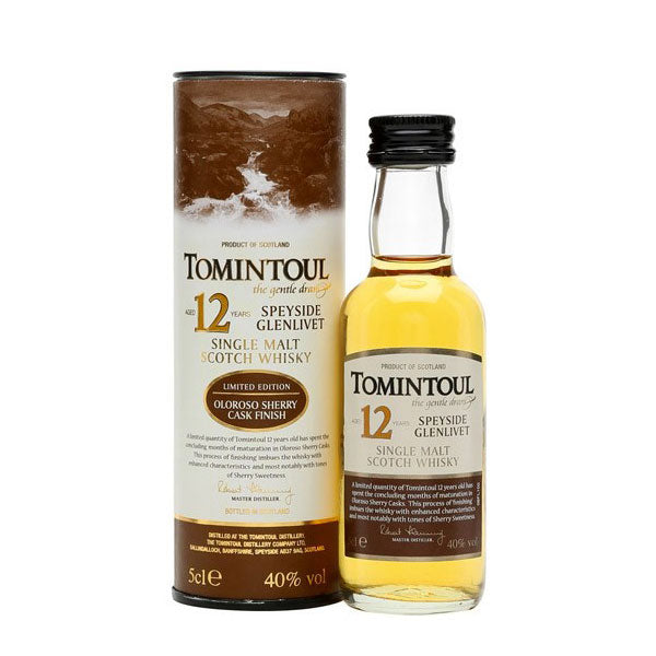 Tomintoul 12 Year Old Oloroso Sherry Cask Finish Limited Edition Miniature