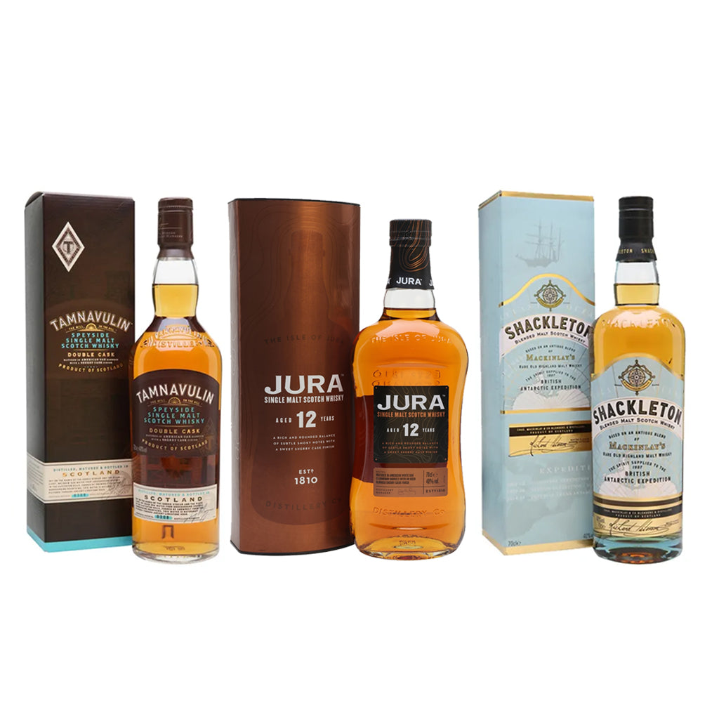 Tour of Scotland Set (Buy Jura 12 + Tamnavulin Get 1 Shackleton) 70cl