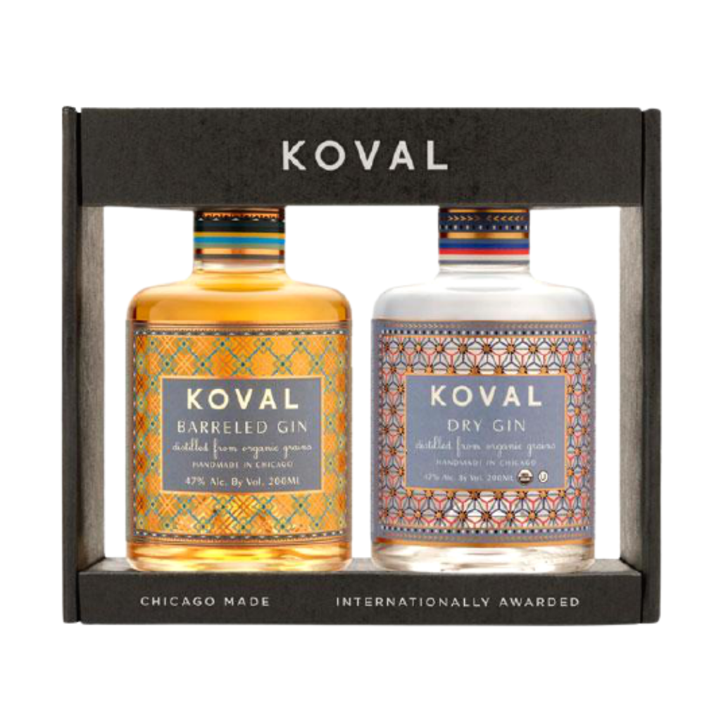 Koval Gin Pack Dry Gin & Barrel Aged Gin)