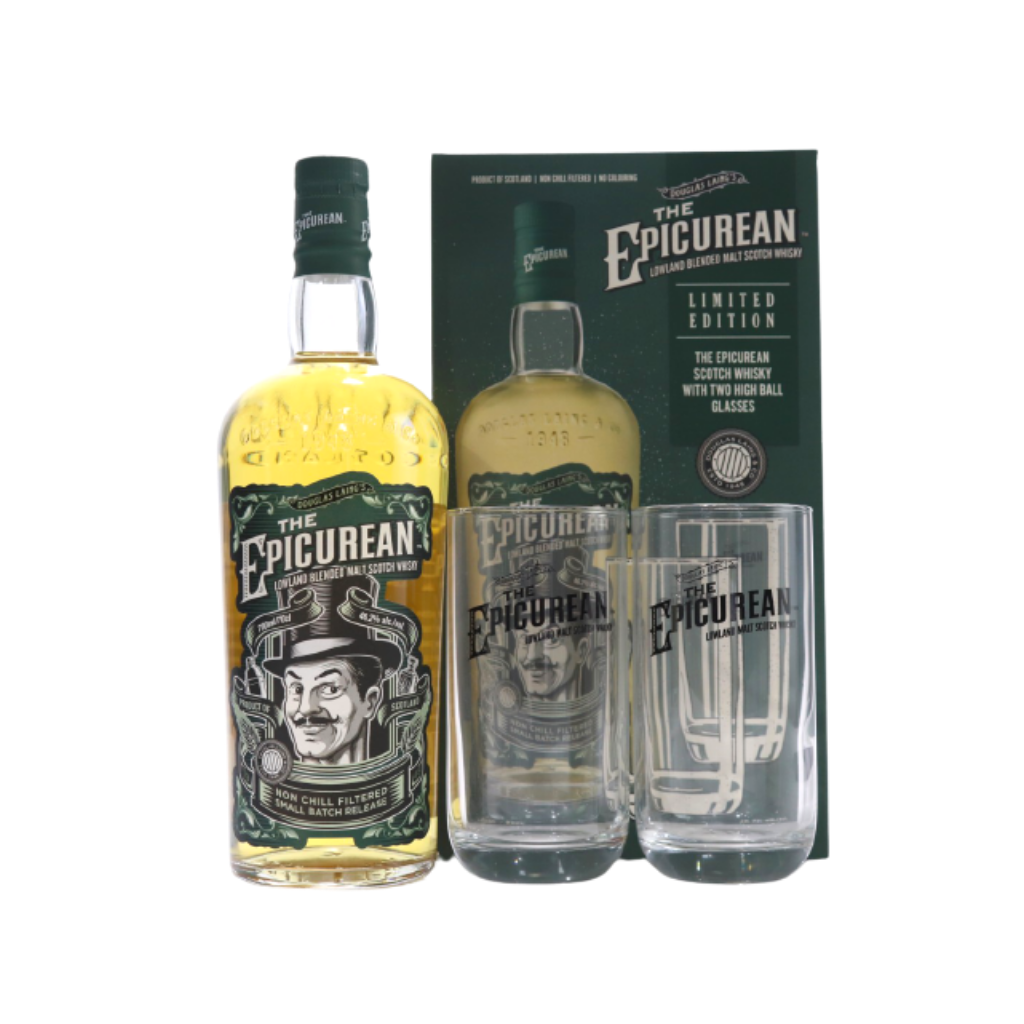 Douglas Laing - Epicurean small batch w/ free 2 highball glasses 70cl