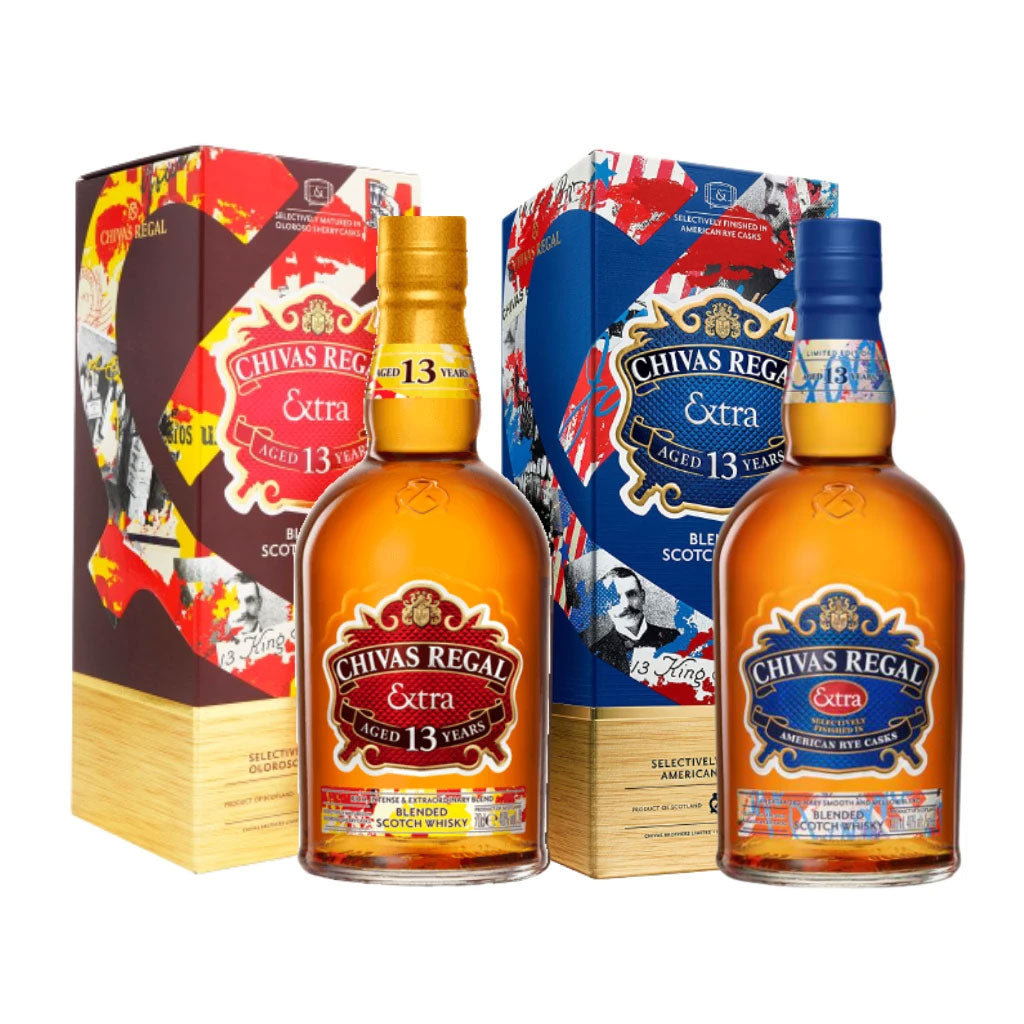 Chivas Extra 13 Year Old Bundle - Sherry & Bourbon 70cl