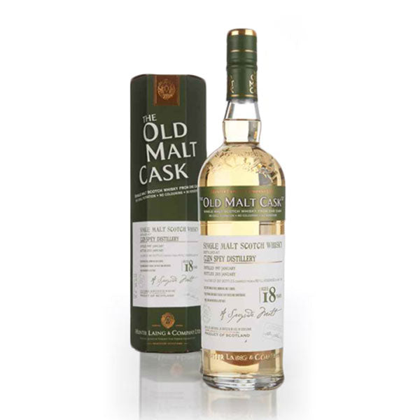 Hunter Laing Old Malt Cask Glen Spey Distillery 18 Year Old