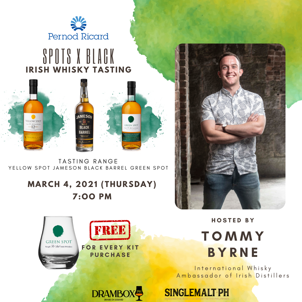 Spots x Black: Irish Whiskey Virtual Tasting