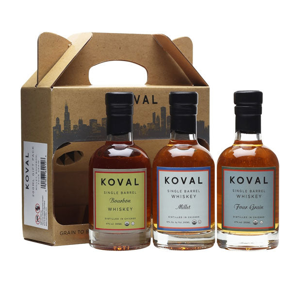 Koval Whisky Gift Pack - Bourbon, Rye, Four Grain
