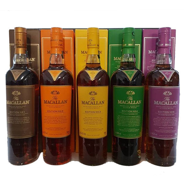 Macallan Edition No. 1-5 (5 Bottles)