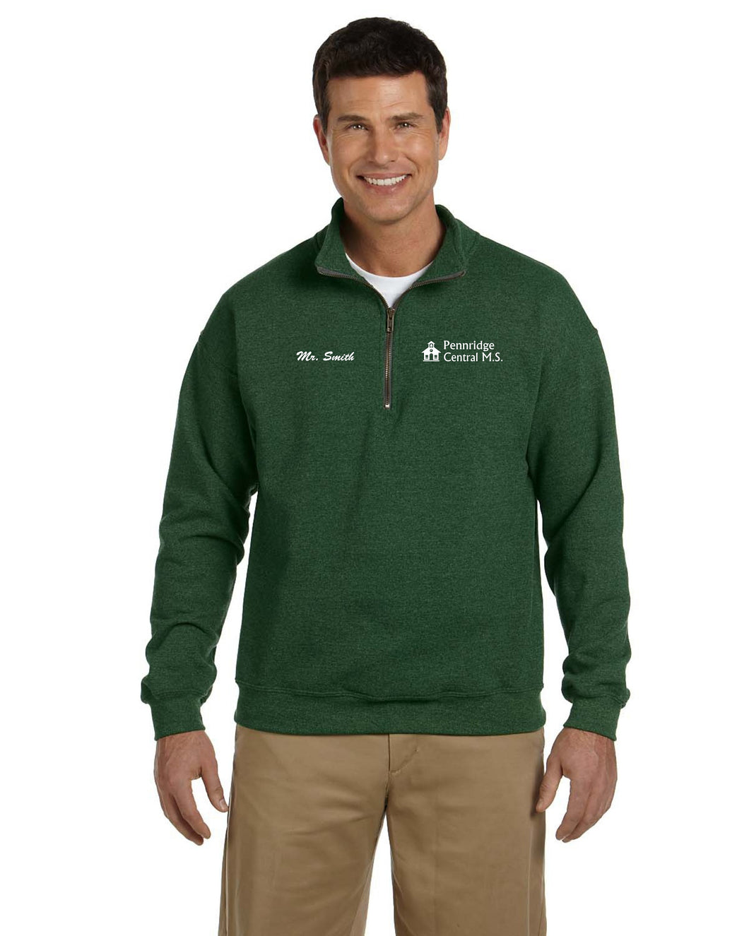 Penn Central Men's 1/4 Zip Pullover w/ Left Chest Embroidery G188