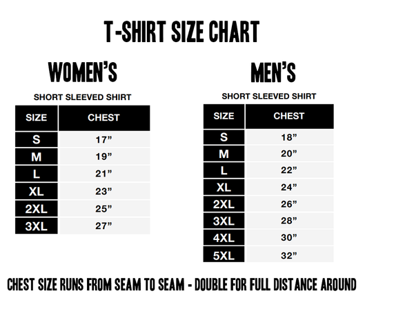 Shared T-shirt Sizes