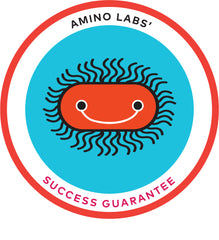 discover amino labs success guarantee for all home science experiment kits in biotechnology, diy bio