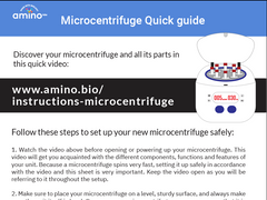 Microcentrifuge quick guide