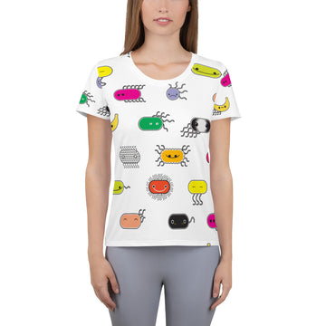 Bacteria Everywhere!  Women's Athletic T-shirt