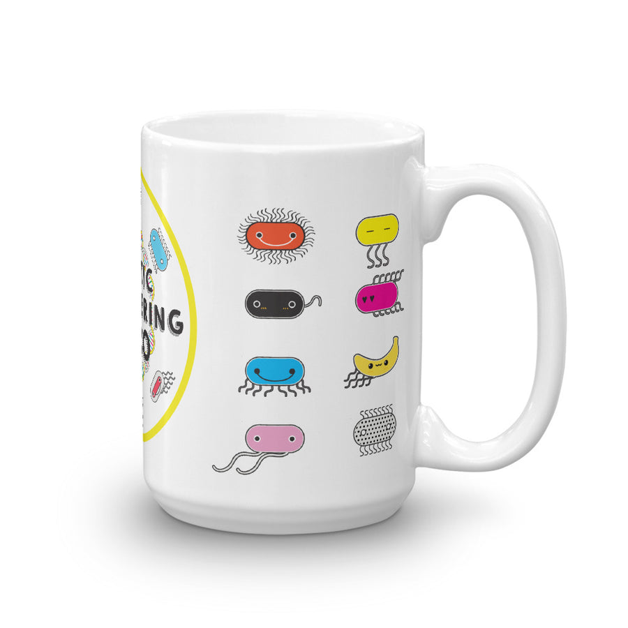 Zero to Genetic Engineering Hero mug, show your love of science projects, STEM, genetic engineering, biohacking, biotechnology, synthetic biology, life science, DNA, genetics