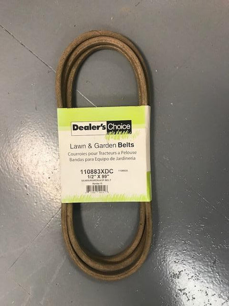 "DEALERS CHOICE 110883XDC BELT 1/2"" X 99"" REPLACES AYP 110883 FITS SEARS, CRAFTSMAN, HUSQVARNA DECKS"