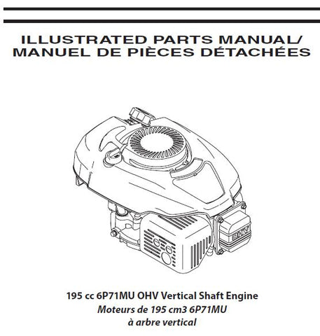 6P71MU Parts List for MTD Craftsman 195 cc OHV Vertical Shaft Engine