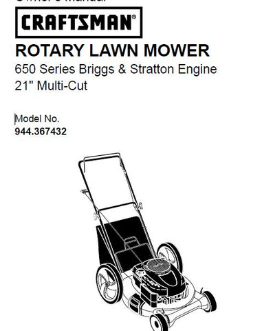 "944.367432 Manual for Craftsman 21"" Multi-Cut Lawn Mower"