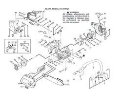 944.411421 Parts List for Craftsman Chainsaw