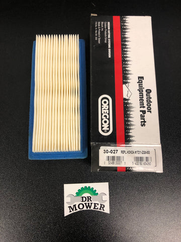 Oregon 30-027 AIR FILTER Replaces Honda 17211-ZG9-800, 17218-ZG9-800, 17231-2M0-000, 4327391, 4327883 DR Mower photo