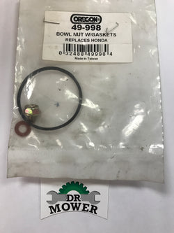 49-998 Oregon Carb Bowl Gasket With Bowl Nut GX100 and GX200 Series