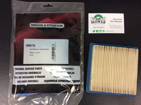Briggs and Stratton 399877s Air Filter