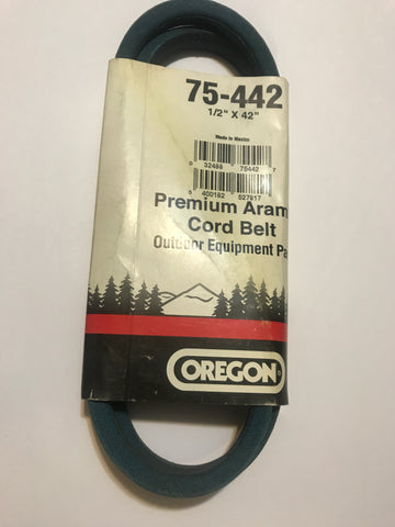 "75-442 Oregon BELT 1/2 X 42"" Fits Ariens, Craftsman, MTD, Snapper, Toro and Others"