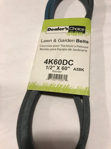 4K60DC DEALERS CHOICE BELT 1/2 x 60""