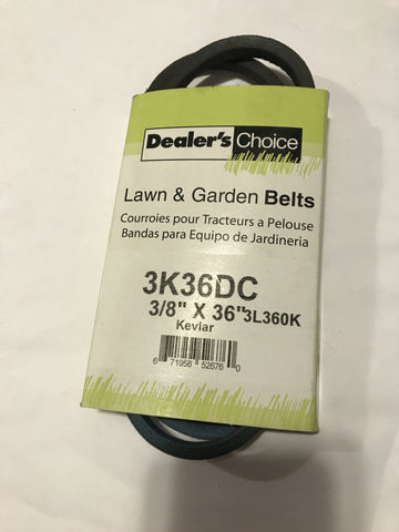 "3K36DC Dealer's Choice 3/8 x 36"" BELT"