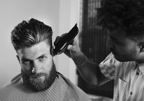 Bryce Harper Joins the Blind Barber Family