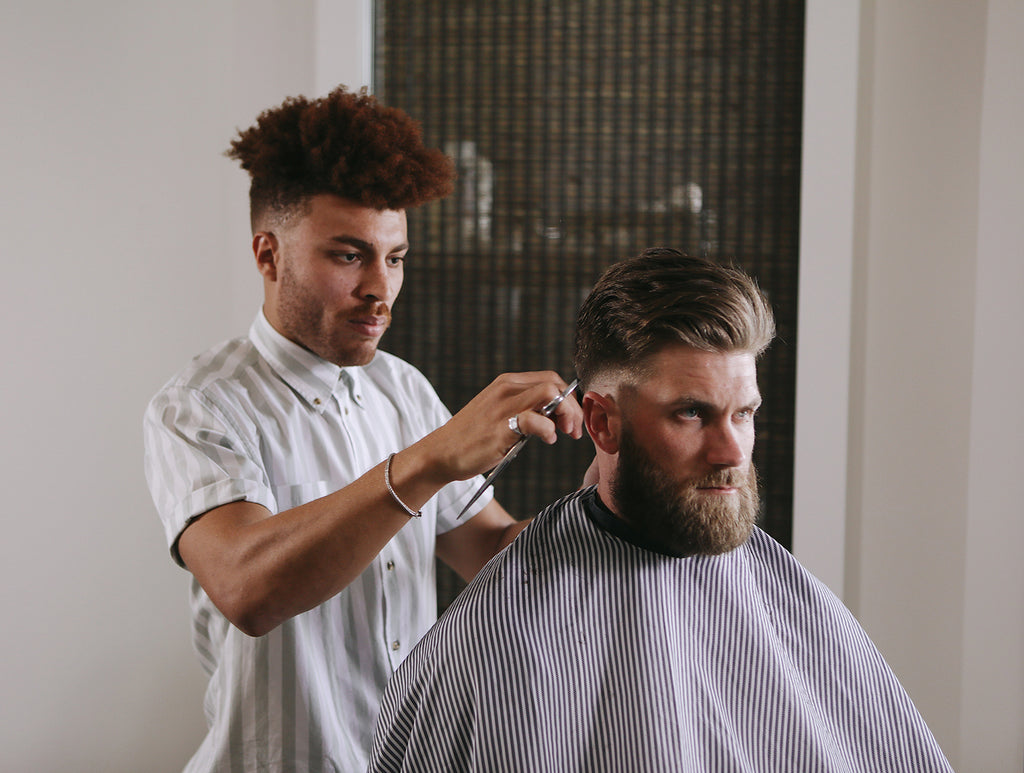 Bryce Harper Has Joined The Blind Barber Team Besides Hitting Bombs Out Of Park Is A Grooming Product Aficionado And Creative Which Made For