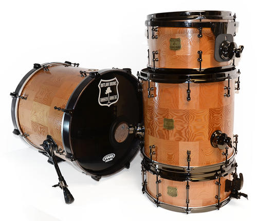 Douglas Fir Solid Wood Drum Kit