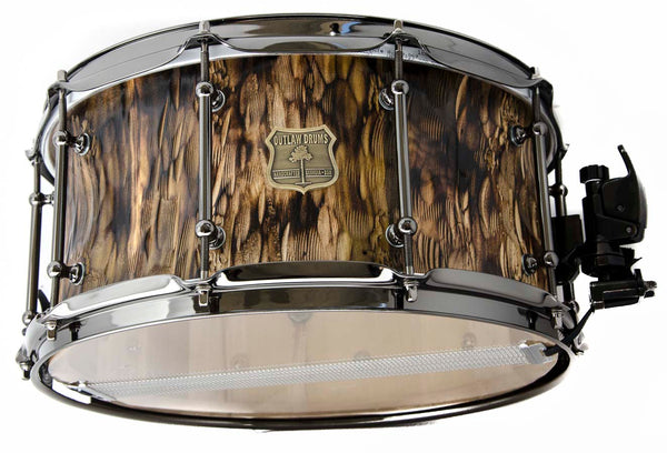 Hammered Reclaimed Poplar snare drum 14x7