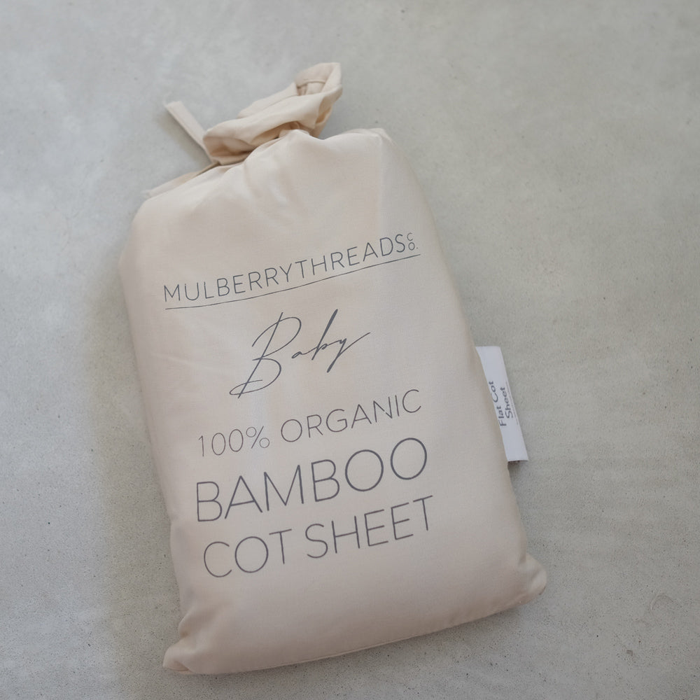 100% Organic Bamboo Fitted Sheet - Oat