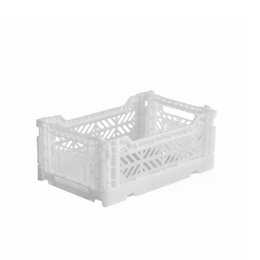 Small Folding Crate - White