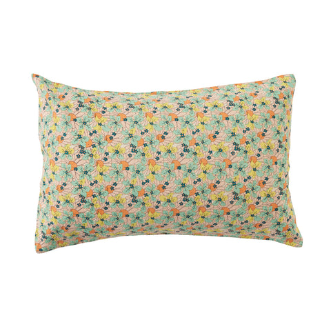 Marcie Floral 100% Linen Standard Pillowcase Set