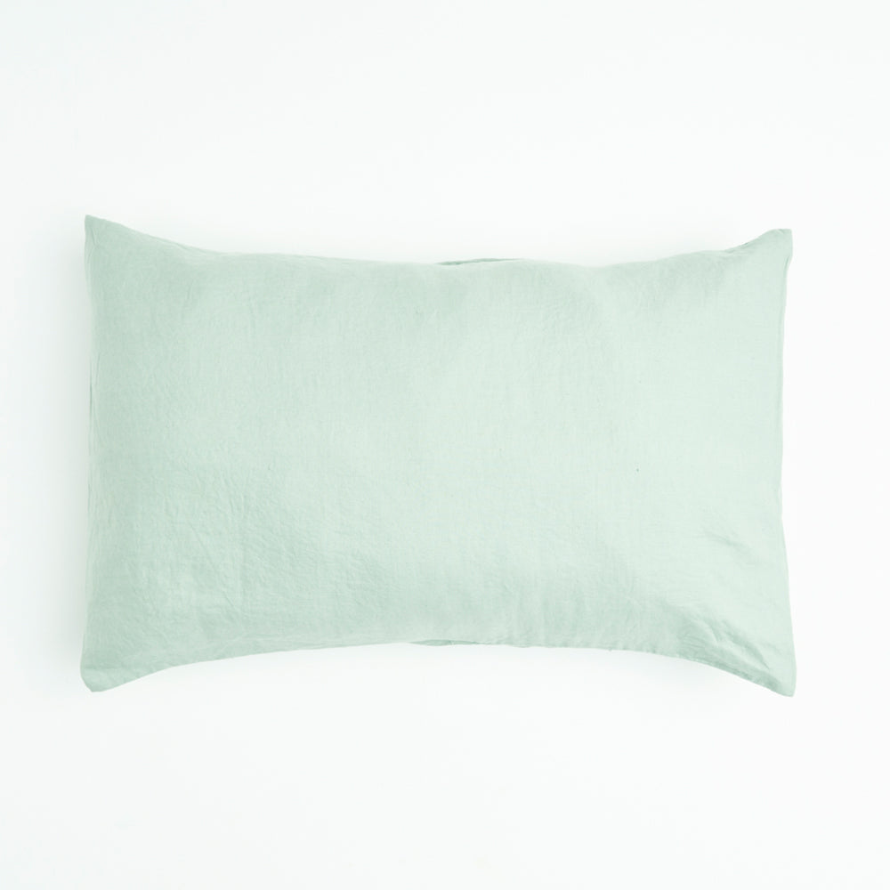 Wasabi 100% Linen Standard Pillowcase Set