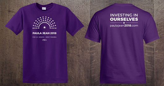 Paula Jean 2018 Campaign Shirt Double Sided Purple