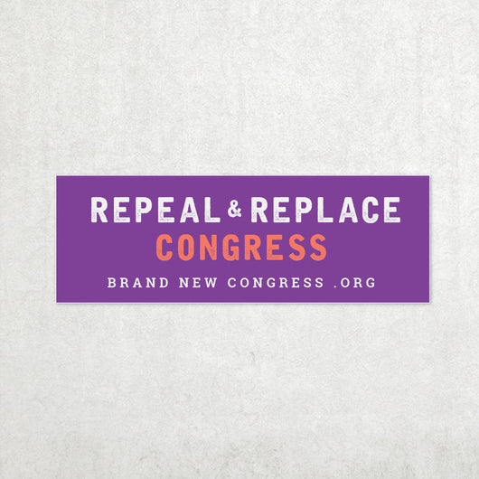 Repeal & Replace Congress Bumper Sticker - Purple