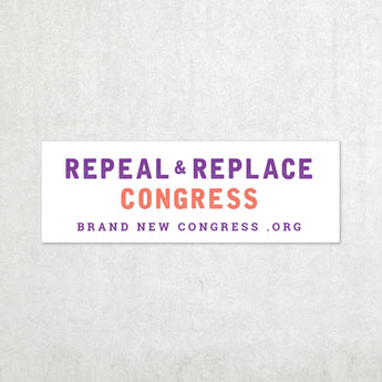 Repeal and Replace Congress Bumper Sticker - White