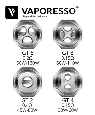 VAPR NZ - Vaporesso GT Replacement Coils