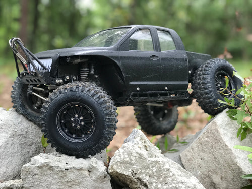 Brazen scale rc hi low chassis on tamiya tundra hard body