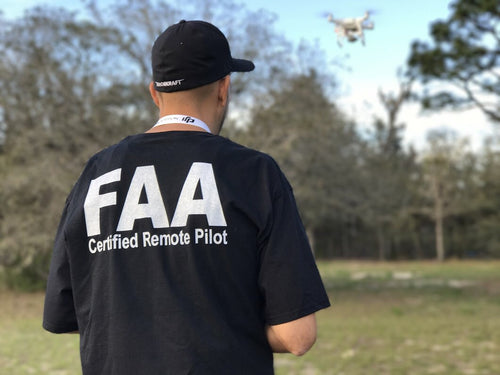 FAA Certified remote pilot t-shirt