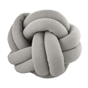Stockholm Knot Cushion - Grey