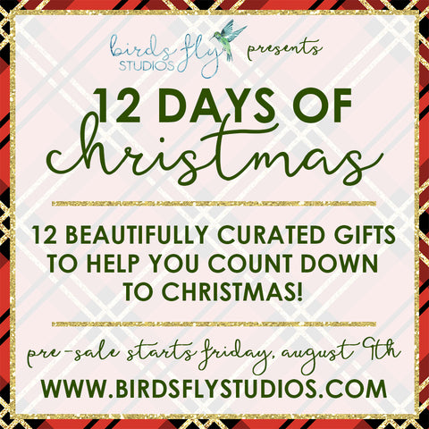12 Days of Christmas Countdown Pre-Sale - Birds Fly Studios Planner Stickers