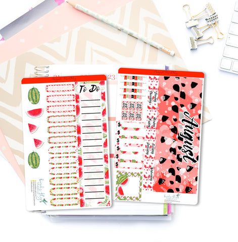 August MONTHLY Kit Planner Stickers | 008 - Birds Fly Studios Planner Stickers