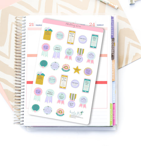 Adulting Win Stickers - Birds Fly Studios Planner Stickers