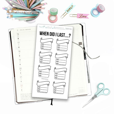 Hobonichi Weeks Yearly Chores Tracker for Note Pages  / Hobonichi Weeks Note Page Stickers / Hobonichi Weeks Functional / Chores Trackers - Birds Fly Studios Planner Stickers