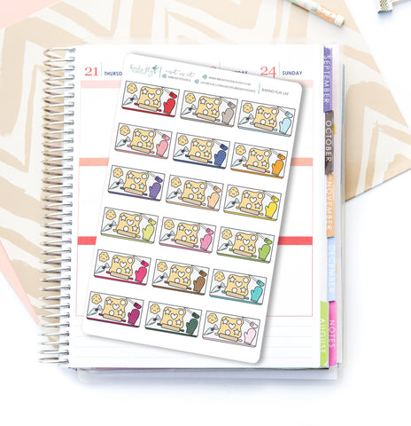 Baking Flat Lay Stickers - Birds Fly Studios Planner Stickers